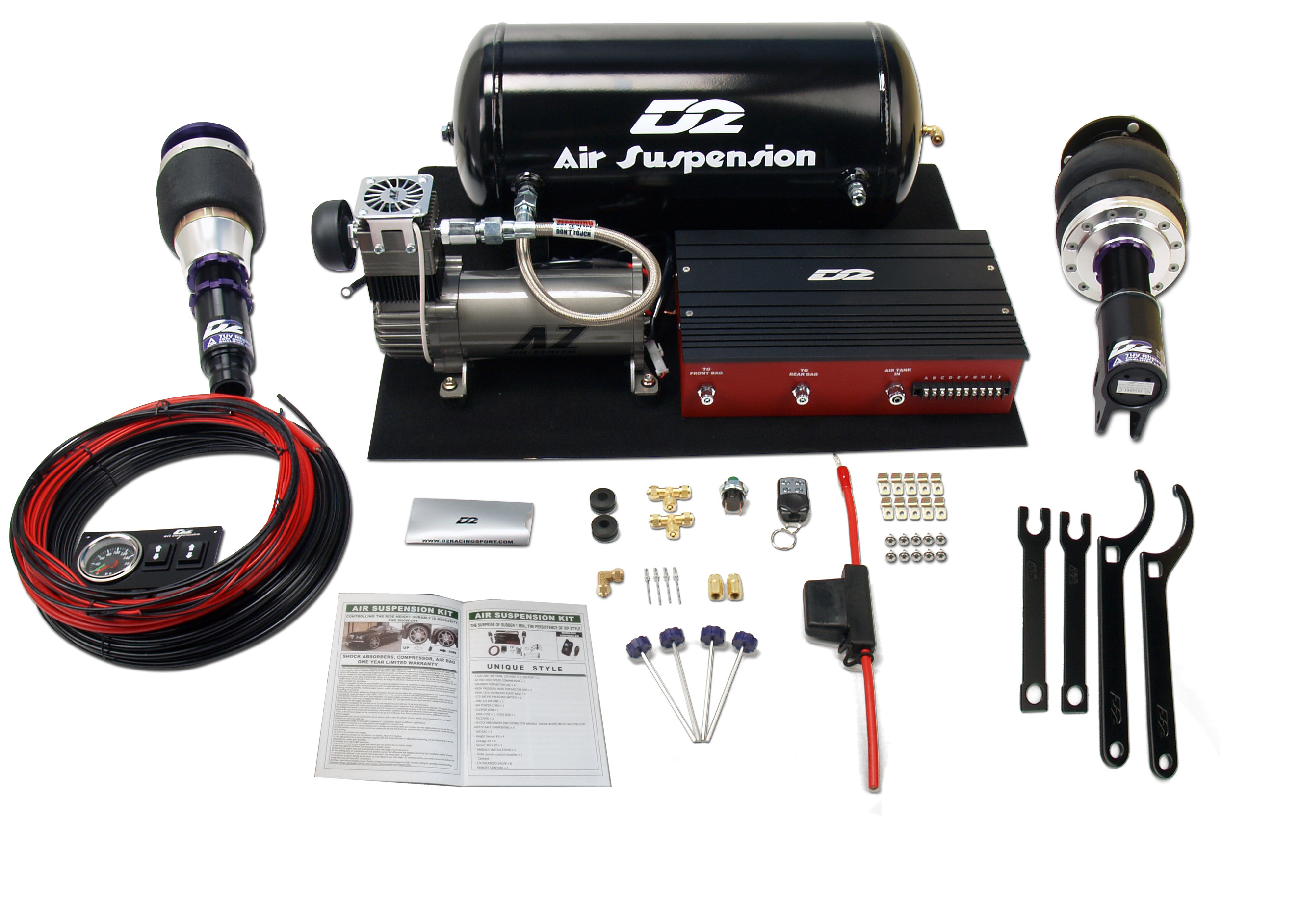 D2 racing deluxe air suspension kit tsx cl9
